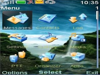 Nokia-6600i-Slide-3D-Waterfall-Beauty