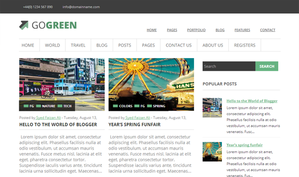 GoGreen-Blogger-Template